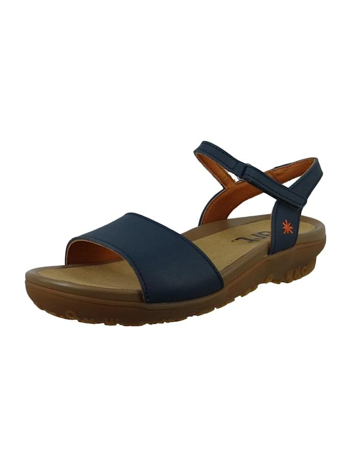 1506 Antibes Damen Leder Sandale Jeans Blau