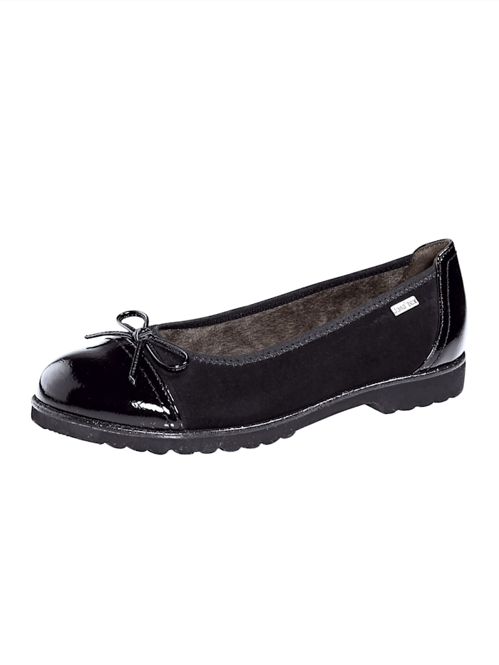 Jana Ballet pumps in a water-resistant finish, Black