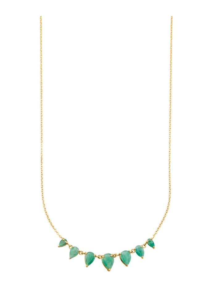 Halsband med smaragder, Grön