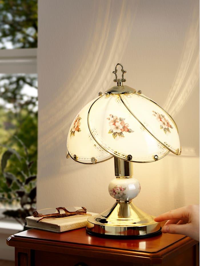 Touchlamp Florenz, goudkleur/crème