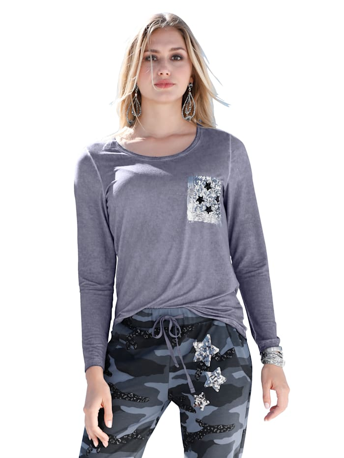 Shirt mit Oil-Dyed-Effekt