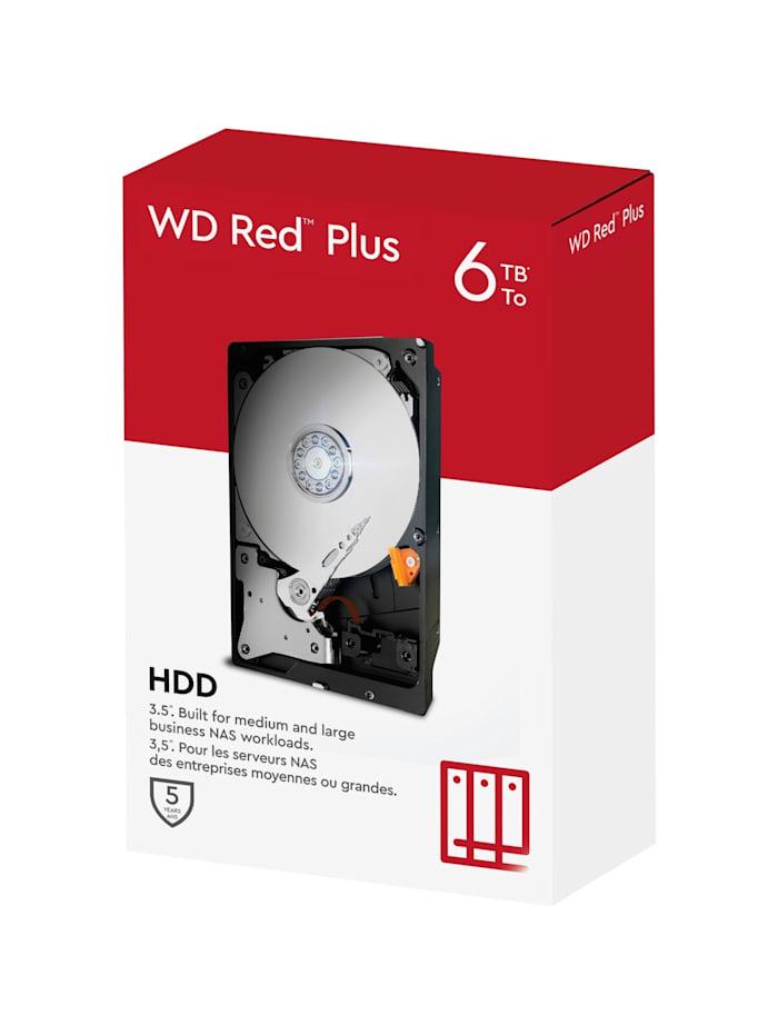 Western Digital Festplatte Red Plus NAS-Festplatte 6 TB, bunt/multi