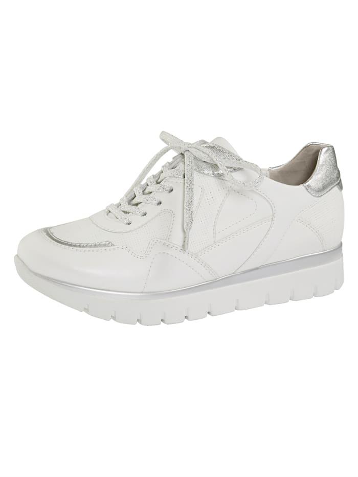 Semler Derbies avec semelle de marche à coussin d'air, Blanc