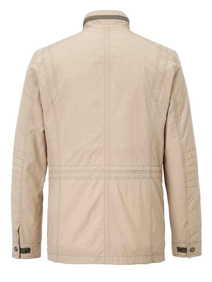 Veste avec poches pratiques à glissière double sens