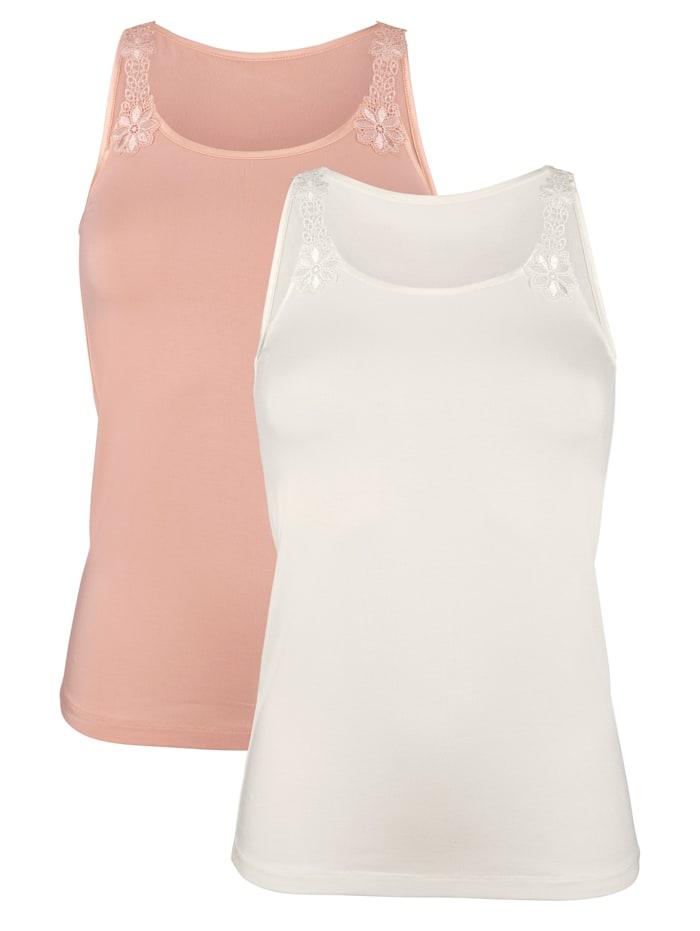 Harmony Hemdjes met kantmotief, Beige/Apricot