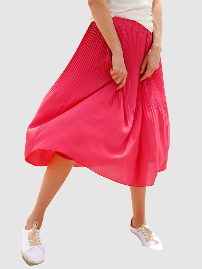 Dress In Rock in verlaufendem Plissee, Rot
