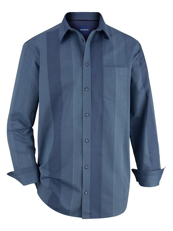 BABISTA Overhemd in lichte glanslook, Blauw