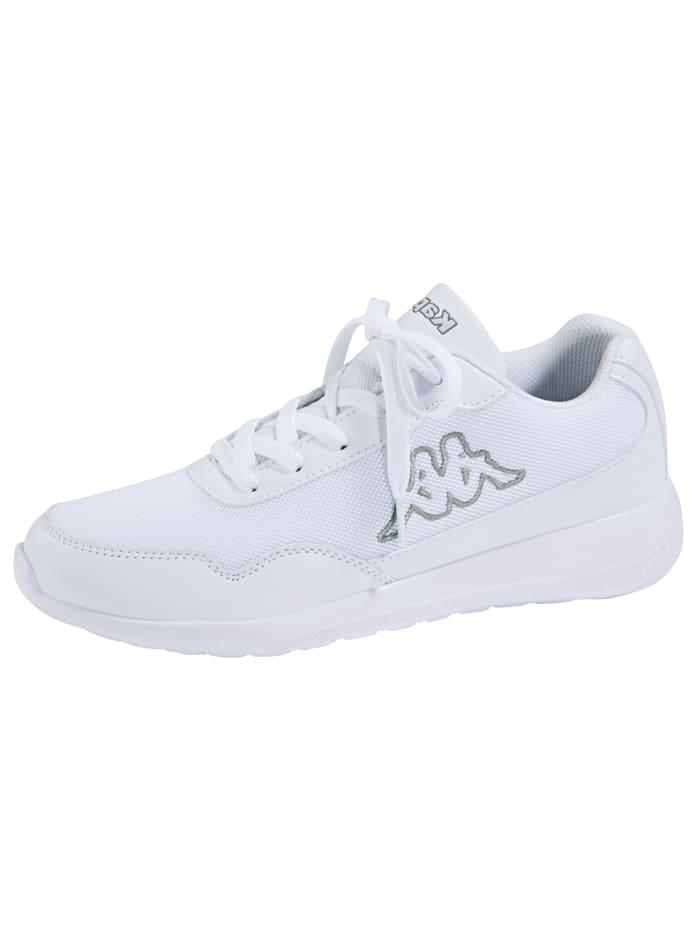 Kappa Sneaker obuv v síťovém vzhledu, Bílá