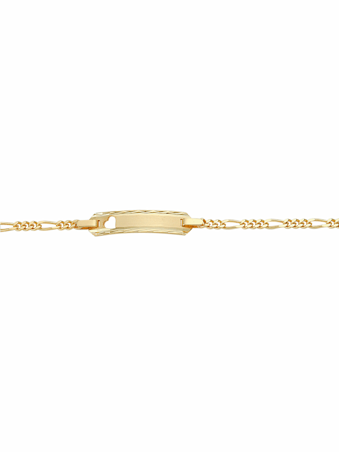 1001 Diamonds 1001 Diamonds Damen Goldschmuck 585 Gold Figaro Armband 16 cm, gold