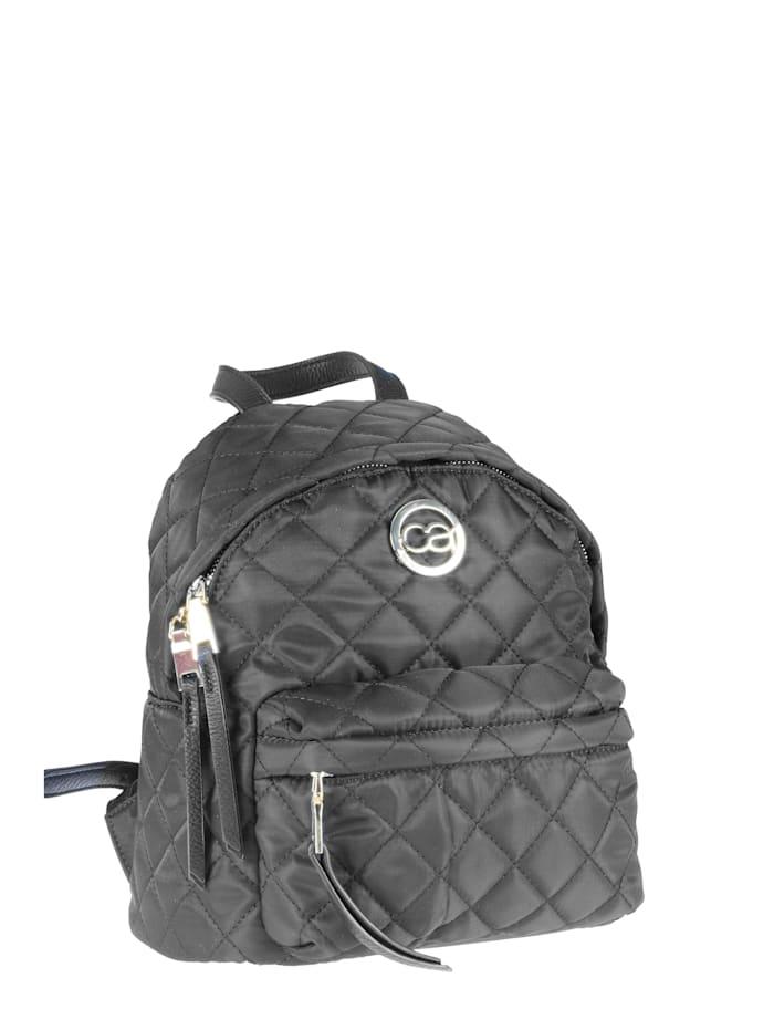 Rucksack Molly aus gestepptem Nylon mit Fronttasche mit diversen Innenfächern