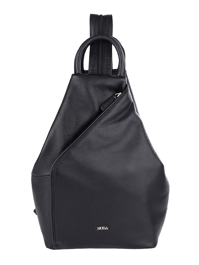 MONA Backpack made from premium leather, Black