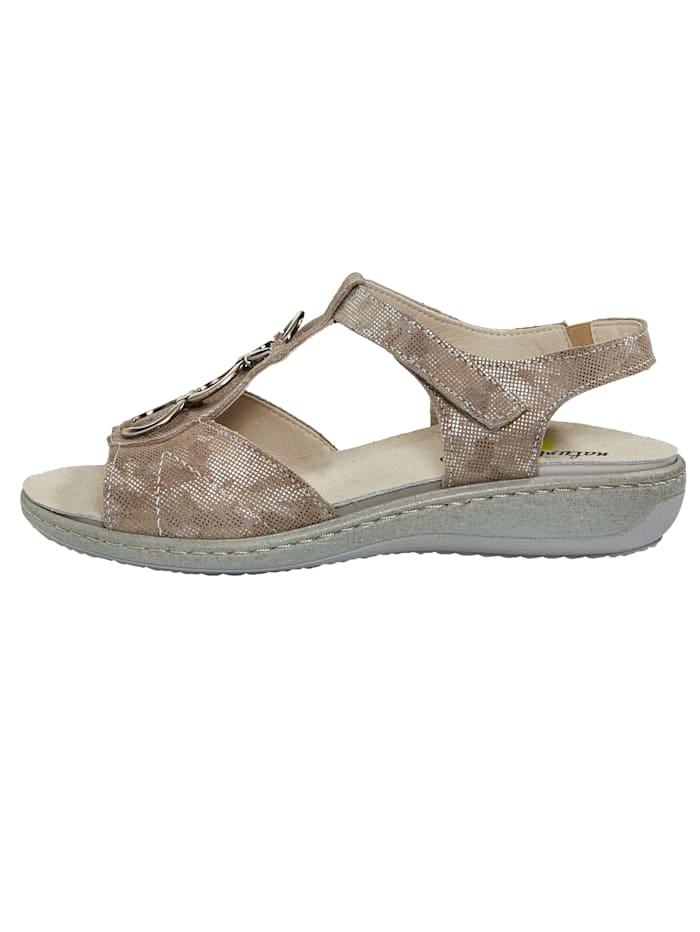 Sandales en cuir chatoyant