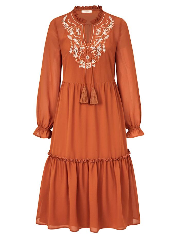 SIENNA Chiffonkleid, Orange