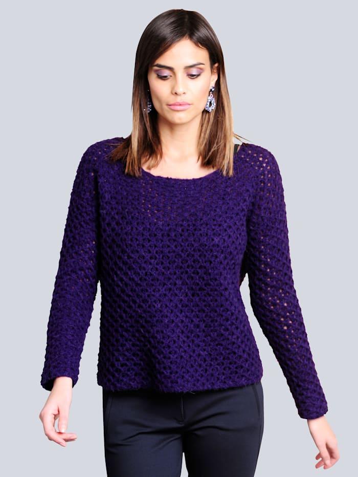 Alba Moda Pullover in hochwertiger kuschelweicher Qualität, Violett