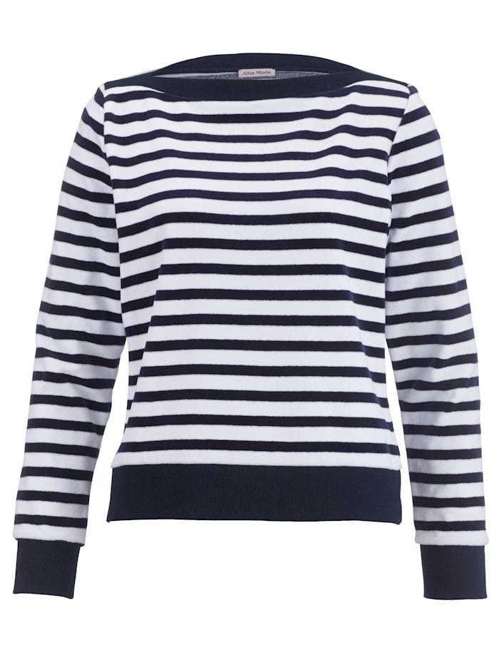 Alba Moda Shirt im Streifenlook, marine-weiß