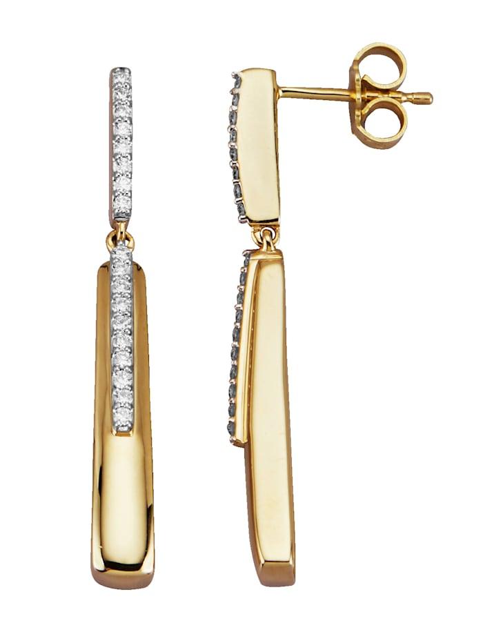Diemer Diamant Oorbellen van 14 kt., Geelgoudkleur