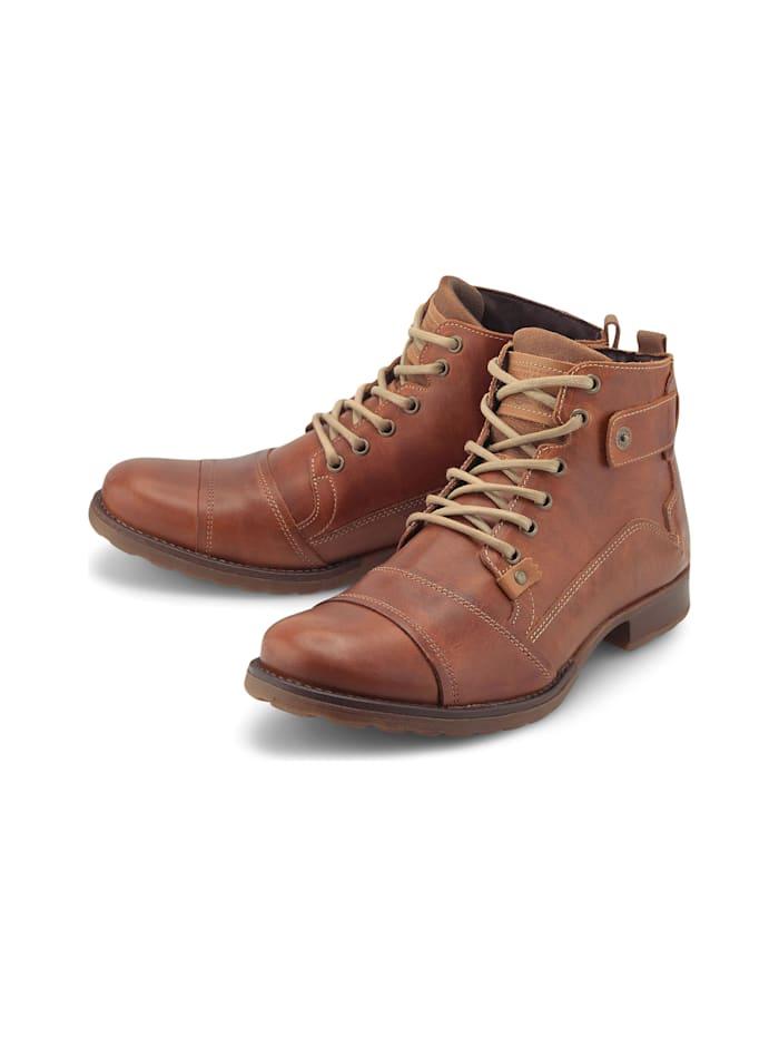 COX Schnürstiefeletten Schnür-Boots, mittelbraun