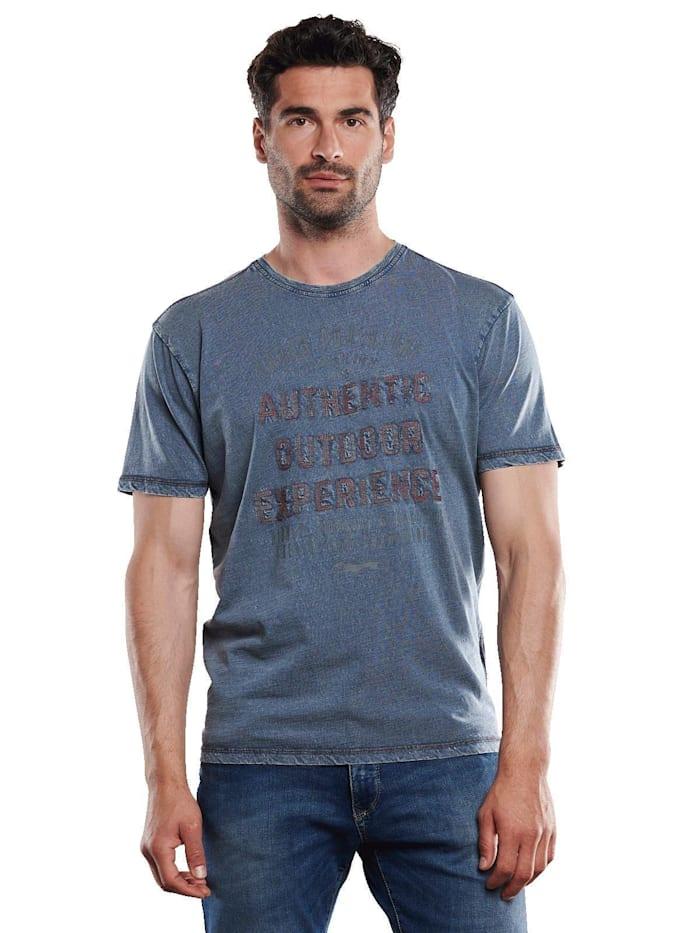 Engbers T-Shirt rundhals, Enzianblau