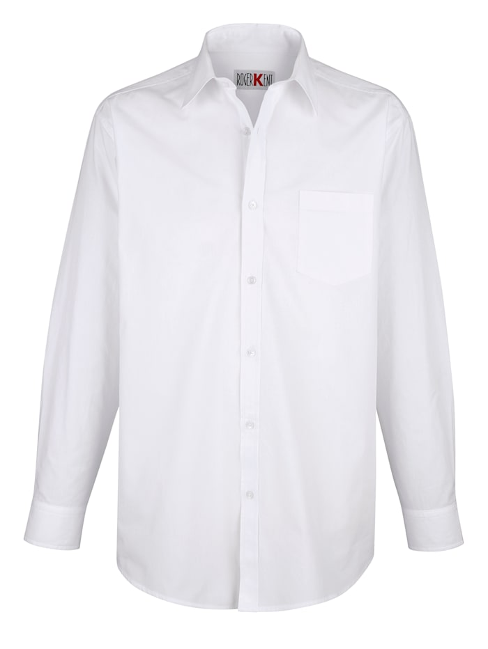 Roger Kent Overhemd van strijkvrij materiaal, Wit