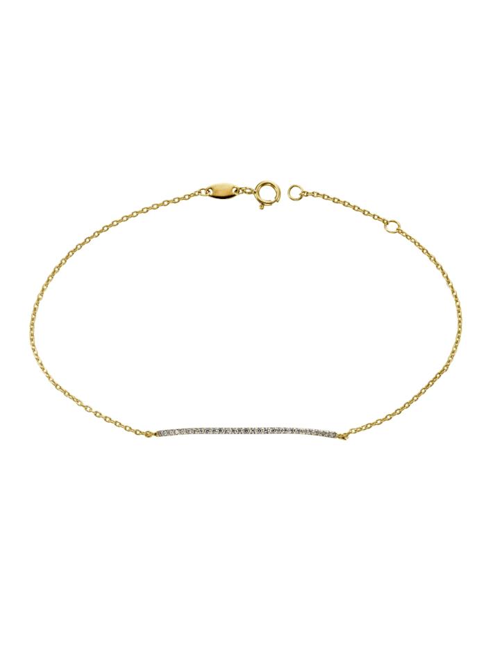 Celesta Armschmuck 375/- Gold Zirkonia 20cm Glänzend, gelb