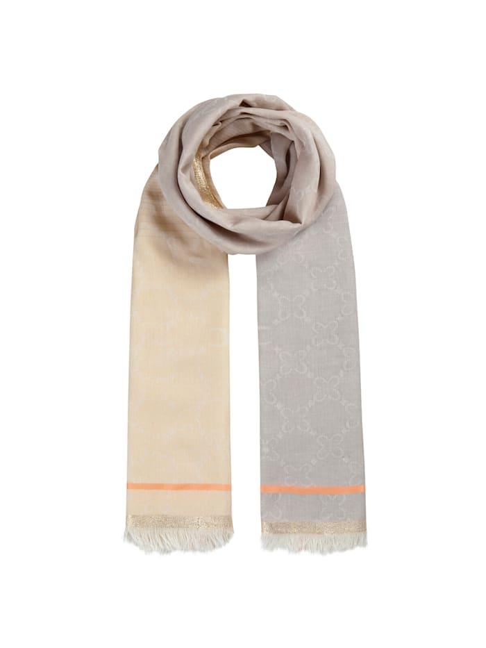 Codello Premium Logo-Schal mit Glamour-Appeal, beige