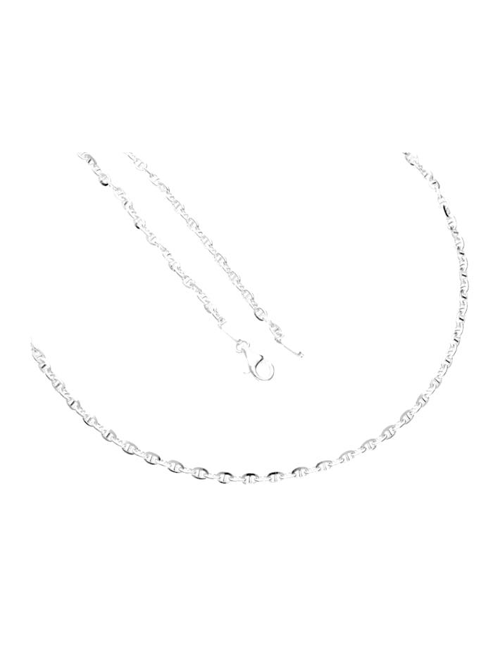 Grazielli Stegankerkette diamantiert, Weiß
