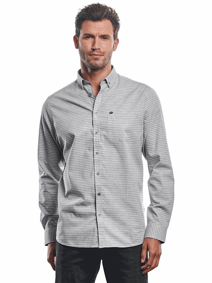 Engbers Hemd im Streifendesign, Silbergrau