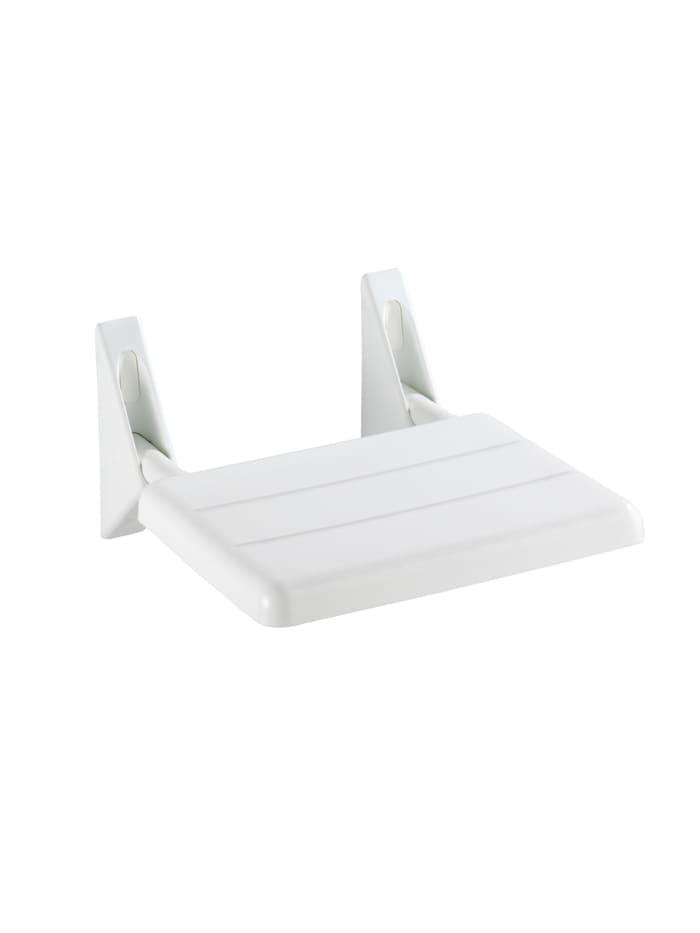 Wenko Duschklappsitz Secura, 120 kg Tragkraft, Weiß, Weiß