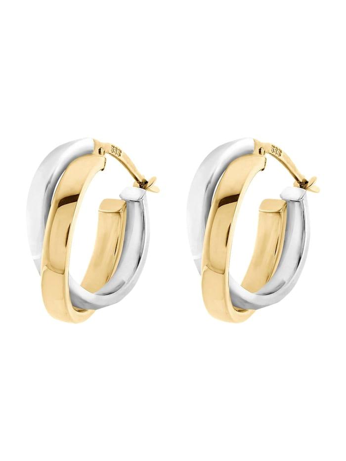 CHRIST GOLD CHRIST Gold Damen-Creolen 585er Gelbgold, 585er Weißgold, bicolor/gold