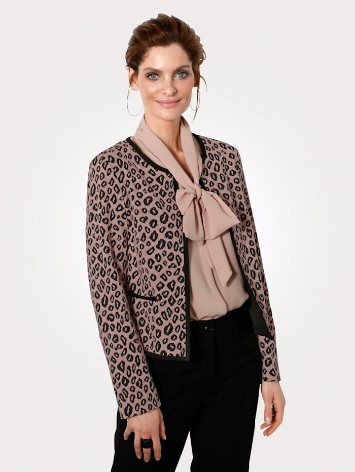 MONA Jersey blazer made from cloqué jacquard, Rosé/Black