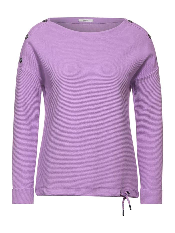 Cecil Shirt mit Ottoman-Struktur, soft violet