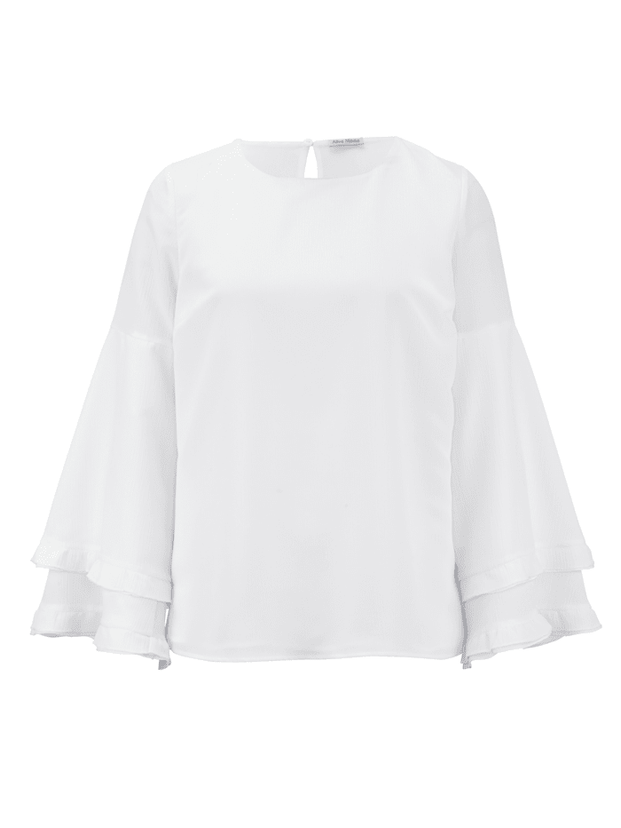 Bluse aus effektvollem Crinkle-Chiffon