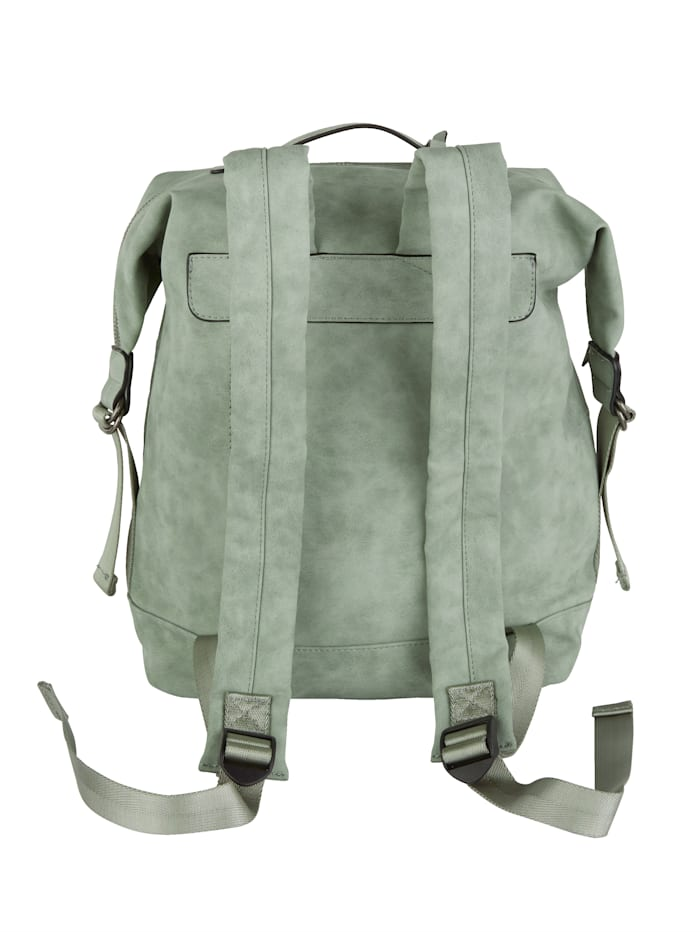Backpack in a distressed finish