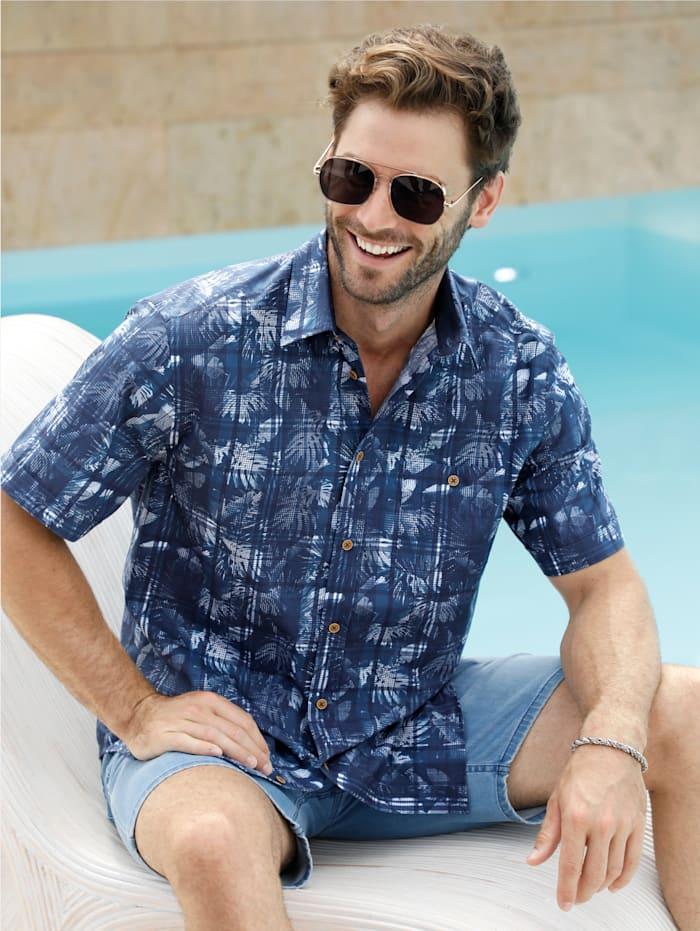 BABISTA Hemd mit modischem Druckmuster, Blau