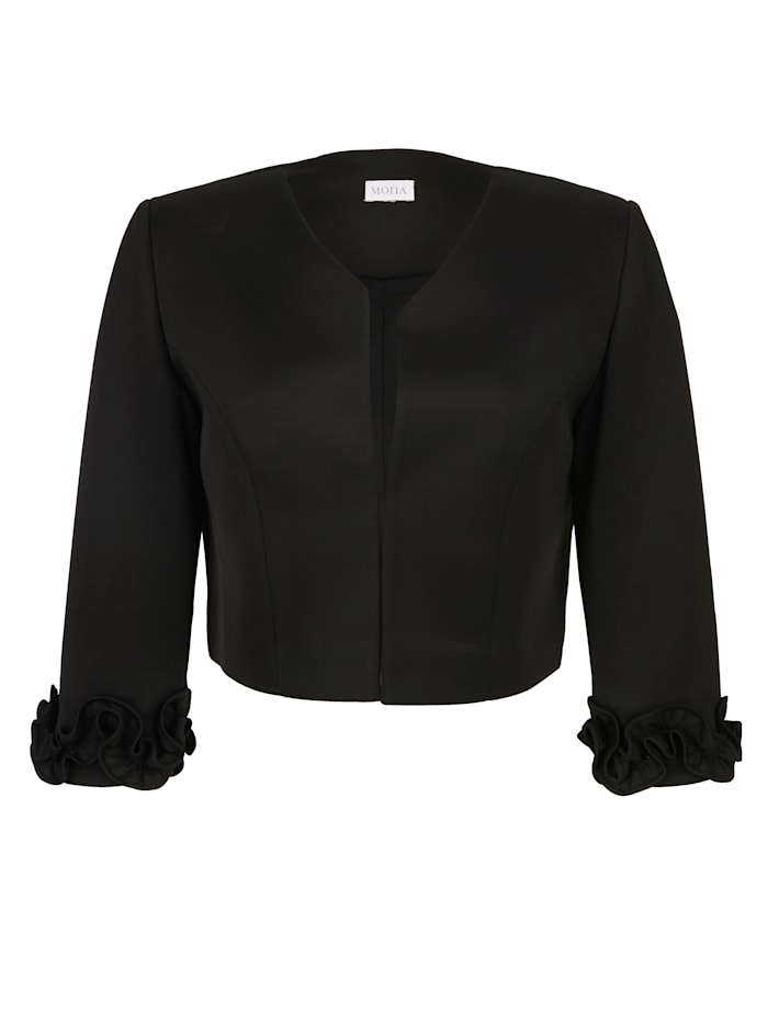 Bolero with floral ruching
