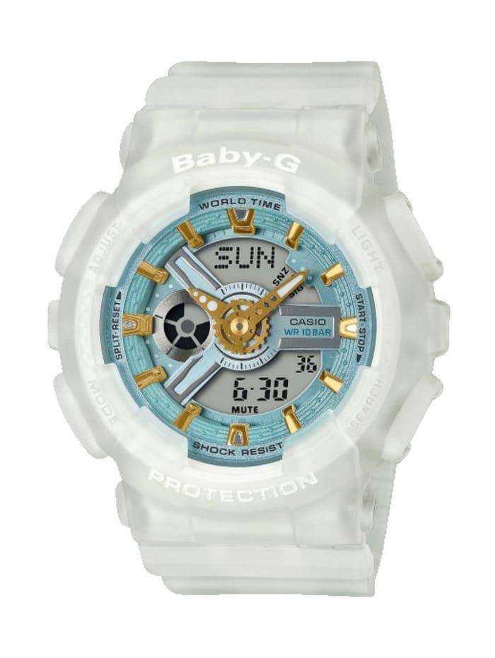 Casio Damen-Chronograph BA-110SC-7AER, Weiß