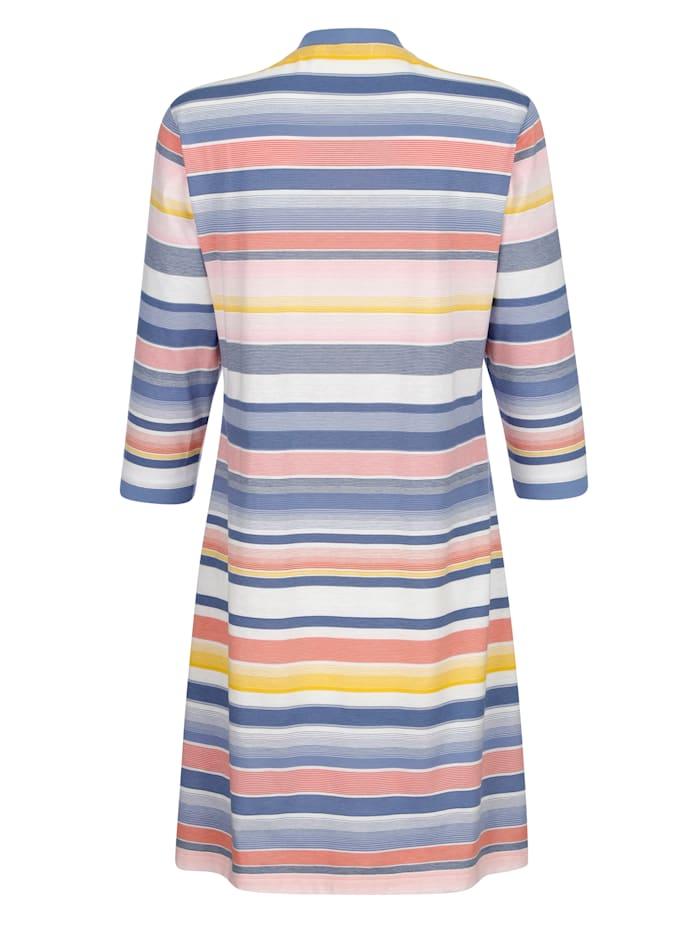 Chemise de nuit à motif rayé tissé-teint