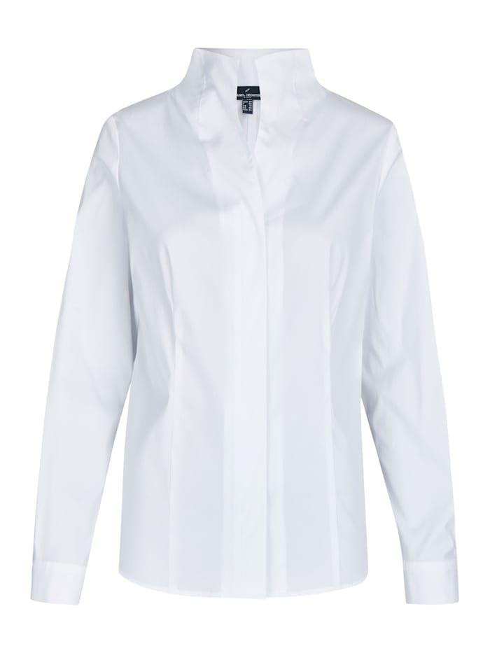 Daniel Hechter Elegante Bluse mit Stehkragen, white
