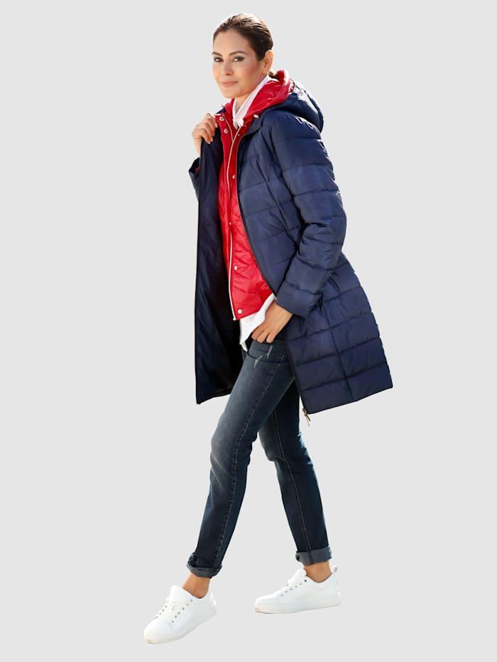Prošívaný kabát s lehkým vatováním