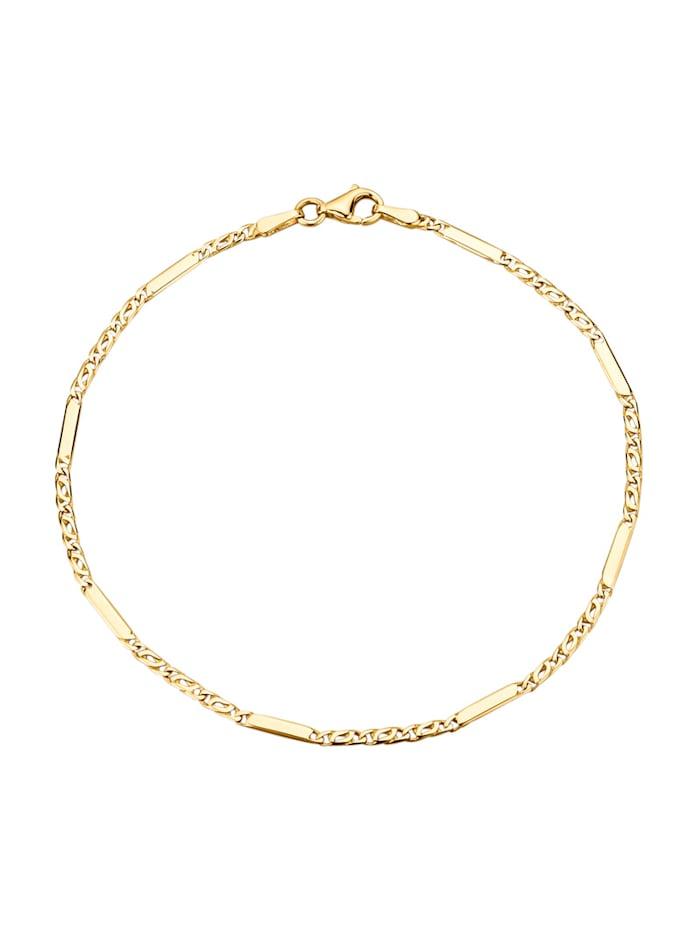 Amara Highlights Armband in Gelbgold 585, Gelbgoldfarben