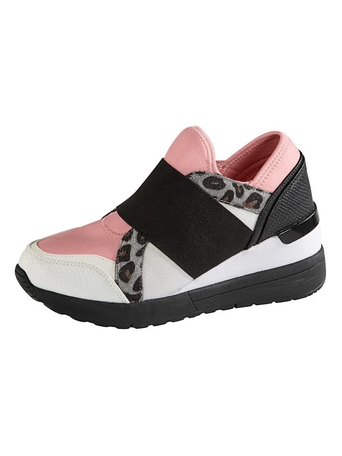 Liva Loop Sneaker mit modischen Applikationen, Rosé