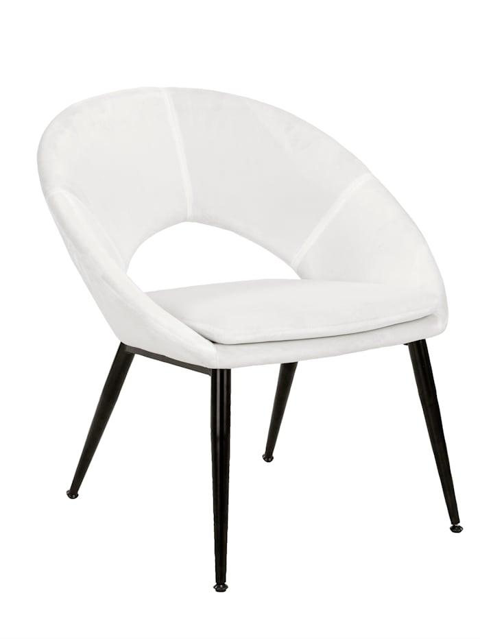 IMPRESSIONEN living Stuhl, Samt, Creme-Weiß