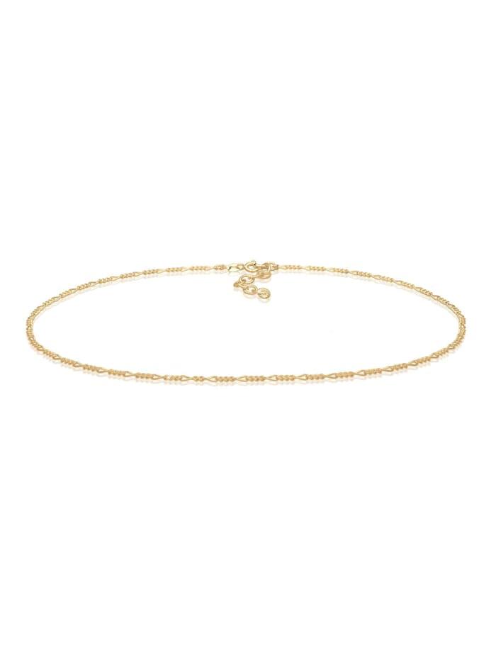 Elli Halskette Choker Figaro Basic Blogger 925 Sterling Silber, Gold