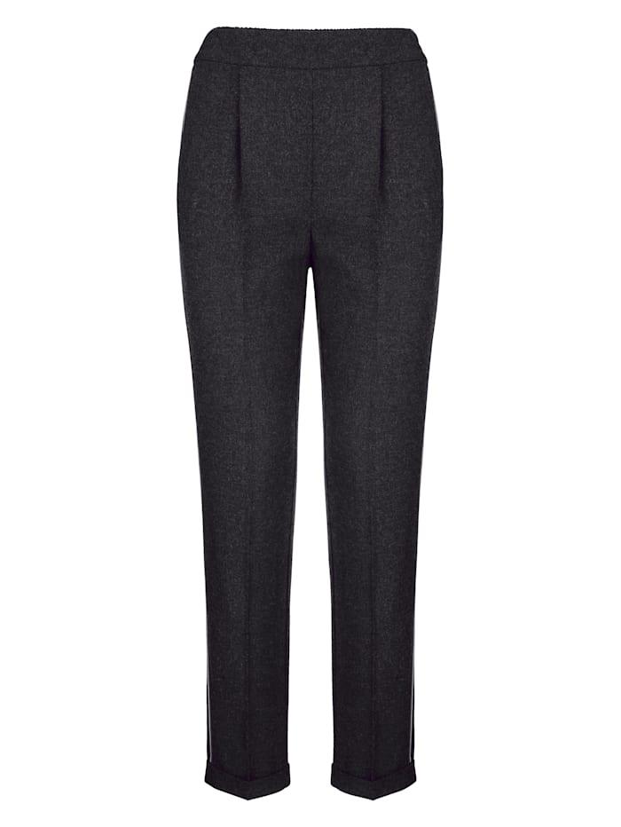 Pantalon aspect laine