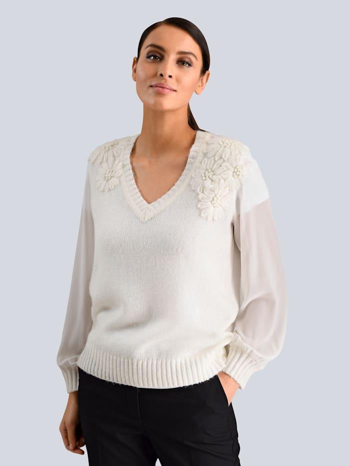 Alba Moda Pullover in luftiger Strickart, Off-white