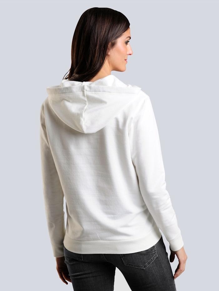 Sweatshirt mit Schriftzug im Vorderteil