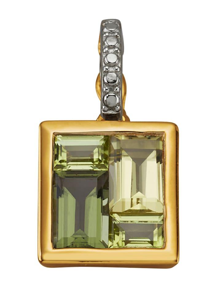 Klipsanheng i sølv 925, Grønn