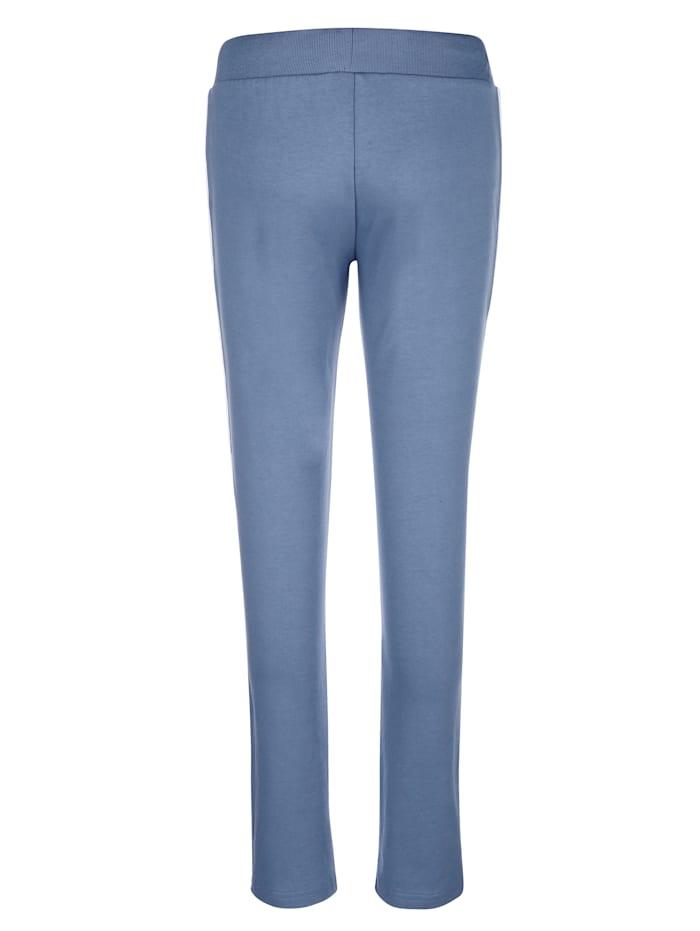 Pantalon de loisirs à bandes contrastantes sur les côtés