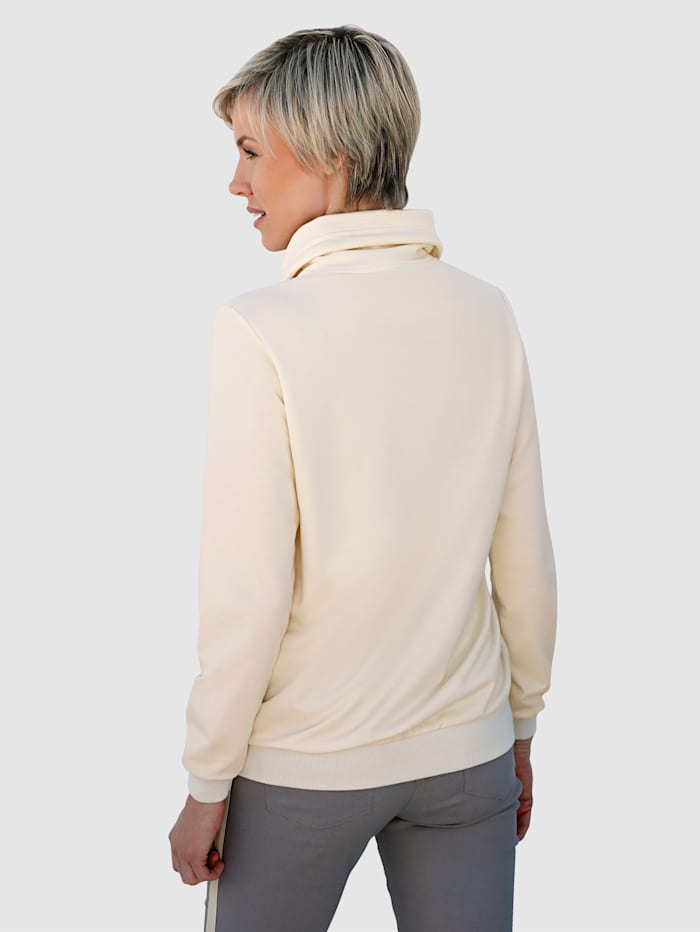 Sweatshirt med guldfärgat tryck