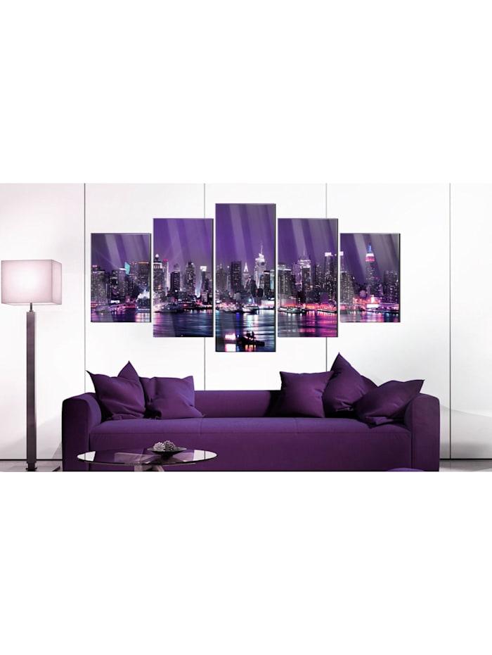 Acrylglasbild Purple Sky [Glass]